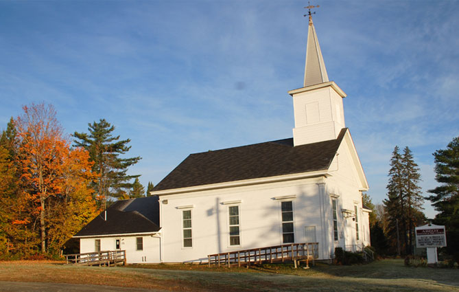 Abbot Evangelical Free Church in Abbot, Maine.